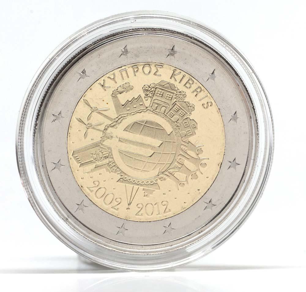 Zypern : 2 Euro 10 Jahre Euro  2012 Stgl.