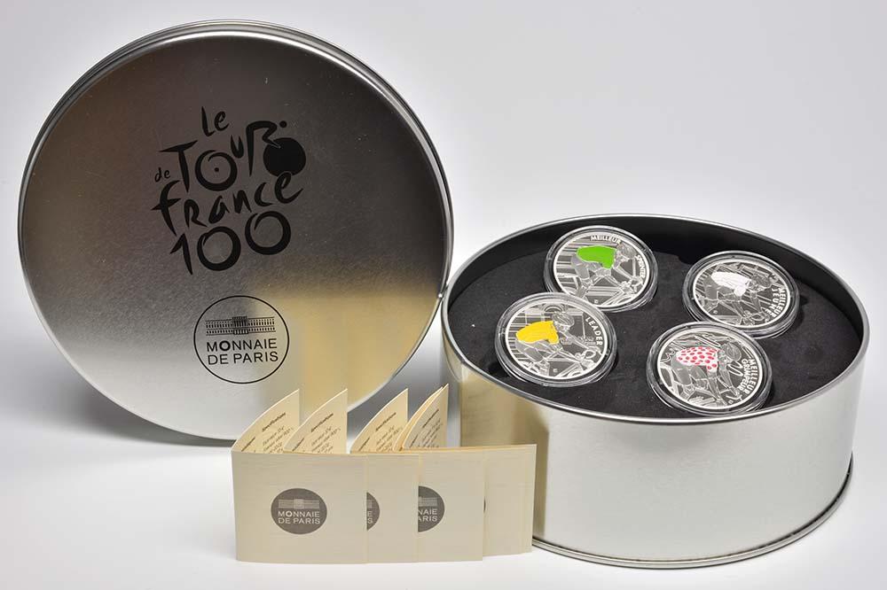 Lieferumfang:Frankreich : 40 Euro Set aus 4 x 10 Euro Münzen  2013 PP