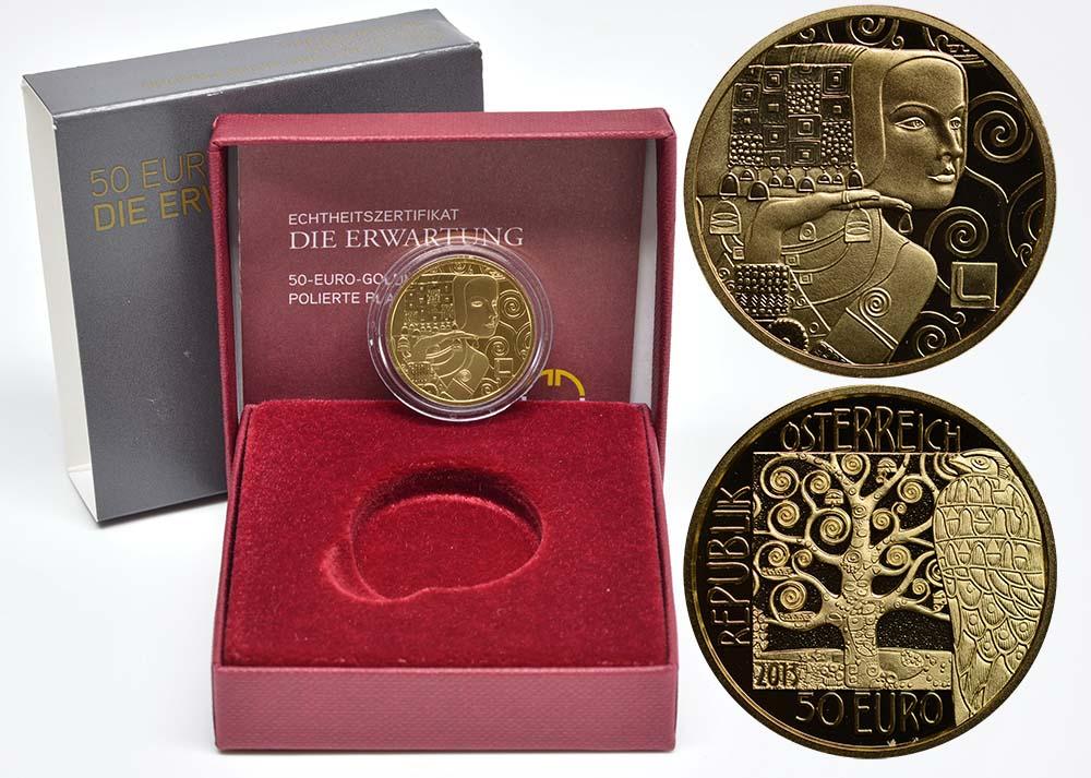 Lieferumfang:Österreich : 50 Euro Klimt - Die Erwartung  2013 PP