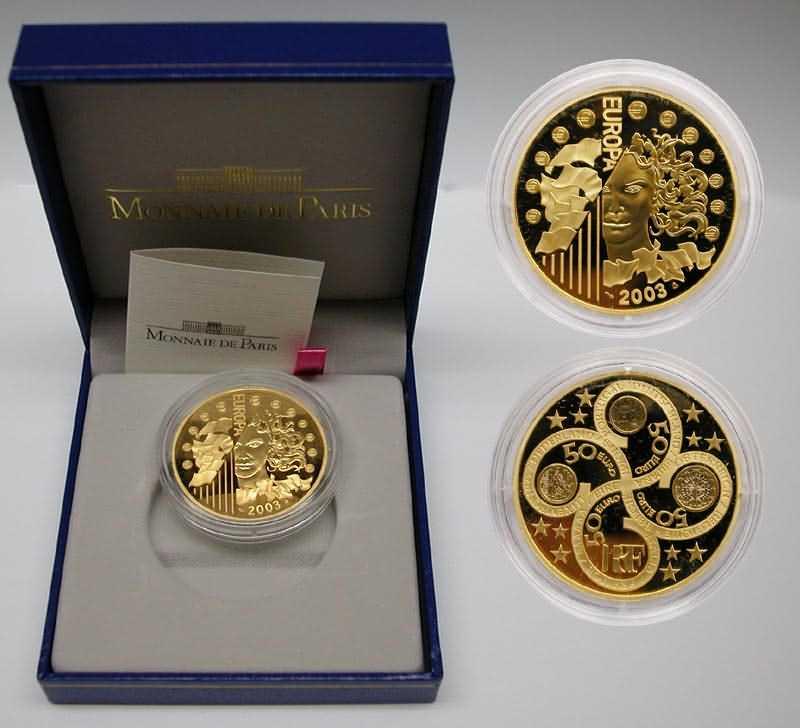Frankreich 50 Euro Europa Münze 2003 Pp Gold
