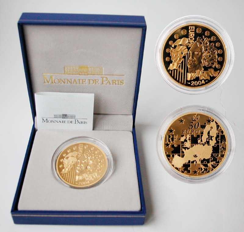 Lieferumfang:Frankreich : 50 Euro Europa-Münze, incl. Originaletui und Zertifikat  2004 PP