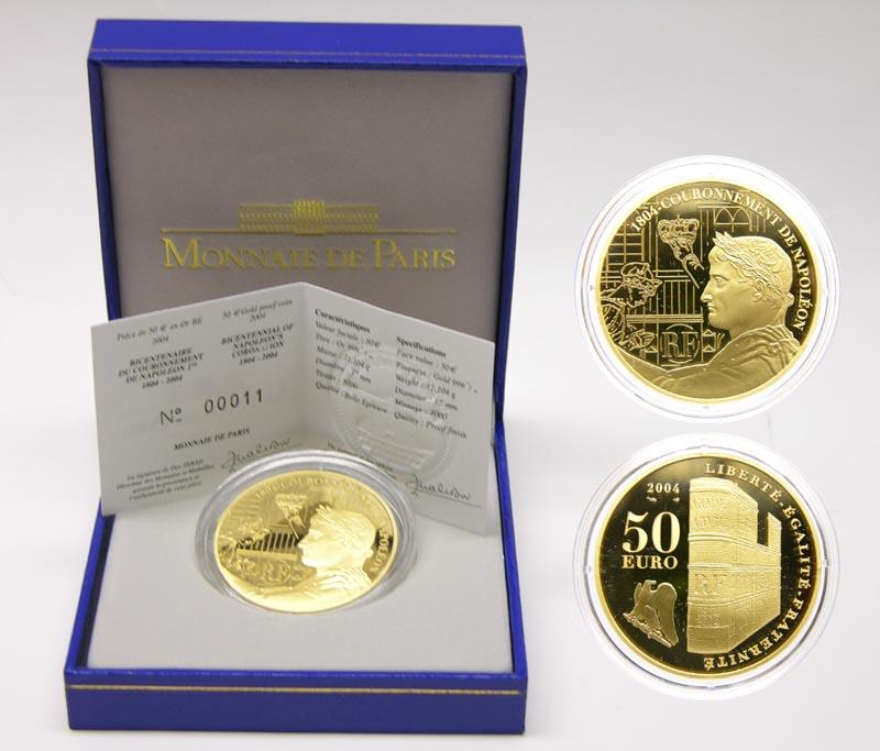 Lieferumfang:Frankreich : 50 Euro 200 Jahrfeier der Krönung Napoleons  2004 PP