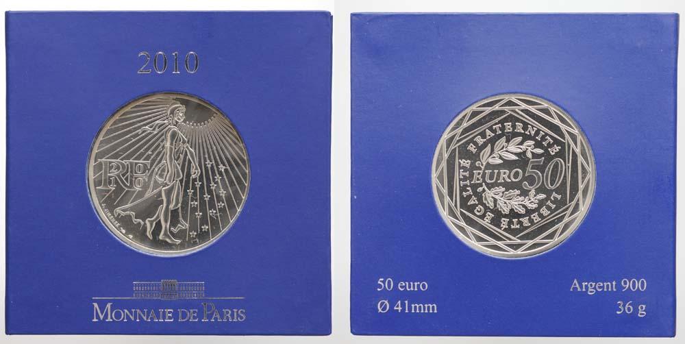 Lieferumfang:Frankreich : 50 Euro Säerin  2010 Stgl. 50 Euro Frankreich 2010