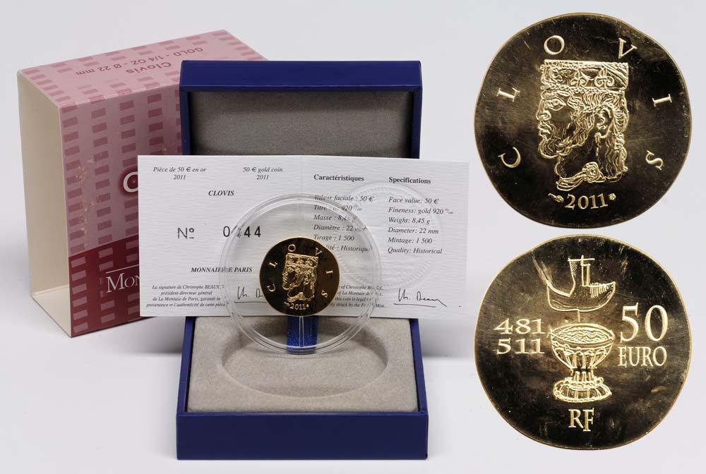 Lieferumfang:Frankreich : 50 Euro Clovis  2011 Stgl.