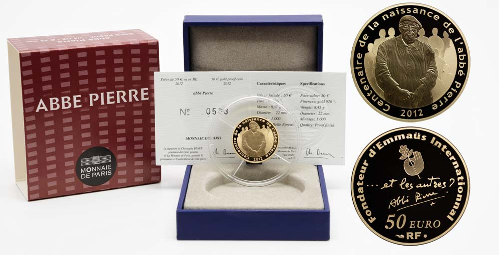 Lieferumfang:Frankreich : 50 Euro Abbé Pierre  2012 PP