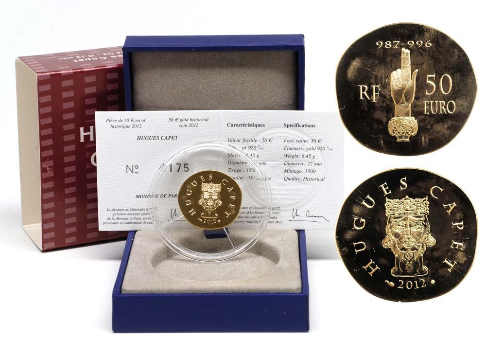Lieferumfang:Frankreich : 50 Euro Hugues Capet  2012 PP