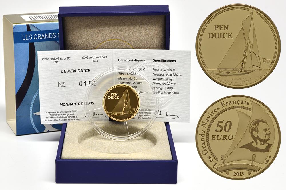 Lieferumfang:Frankreich : 50 Euro Pen Duick  2013 PP