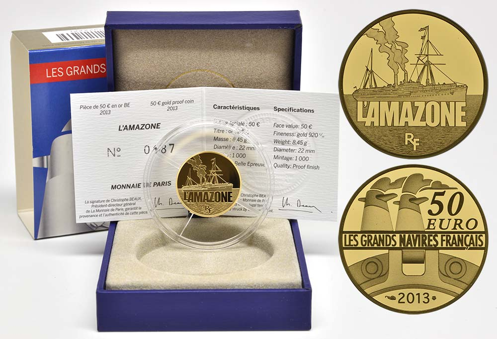 Lieferumfang:Frankreich : 50 Euro L'Amazone  2013 PP