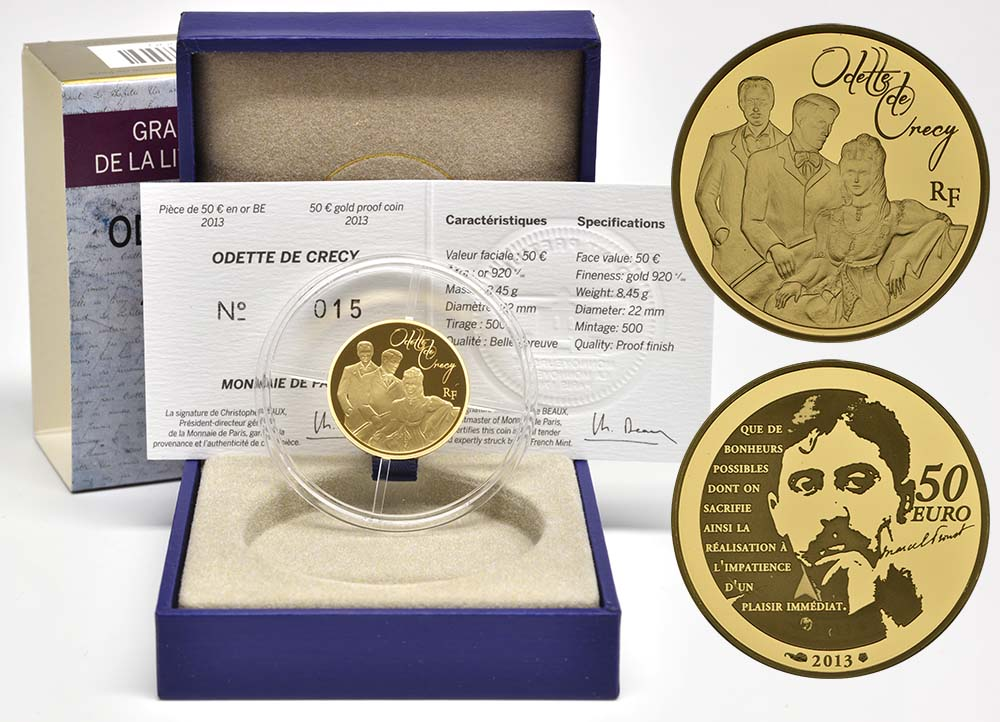 Lieferumfang:Frankreich : 50 Euro Odette de Crécy  2013 PP