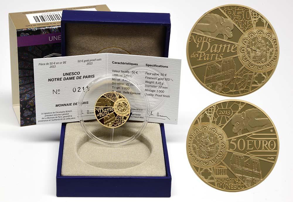 Lieferumfang:Frankreich : 50 Euro Notre Dame  2013 PP