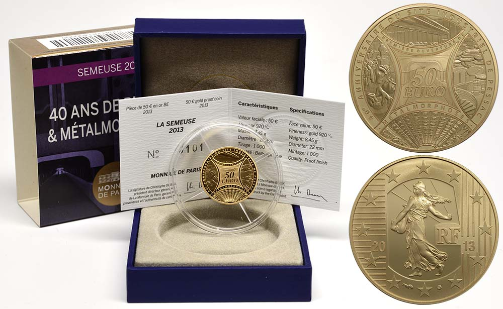 Lieferumfang:Frankreich : 50 Euro MetalMorphoses - Pessac  2013 PP