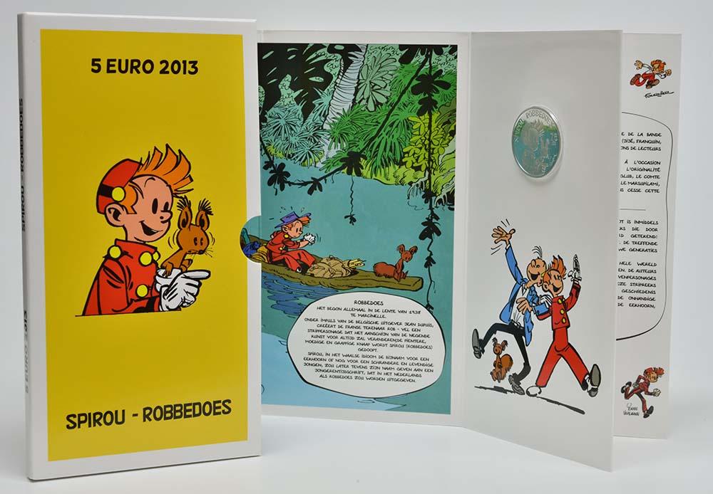 Lieferumfang:Belgien : 5 Euro 75 Jahre Spirou  2013 PP