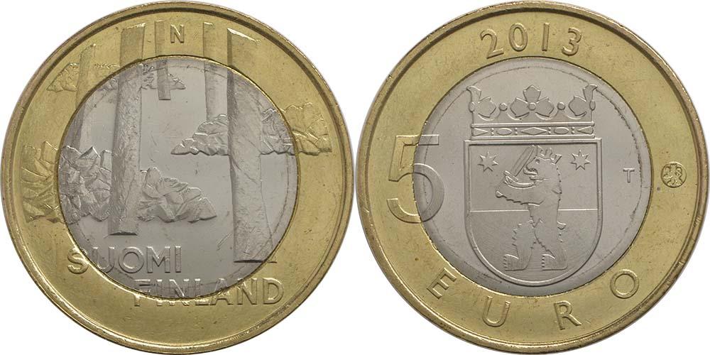 Lieferumfang:Finnland : 5 Euro Satakunta - Sammallahdenmäki (Steingräber)  2013 Stgl.