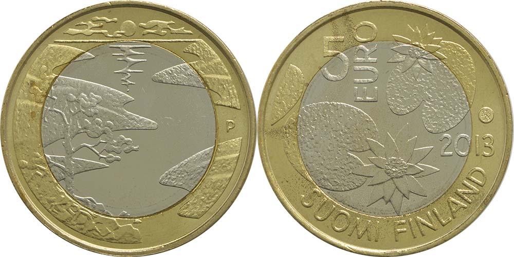 Lieferumfang:Finnland : 5 Euro Sommer  2013 vz/Stgl.