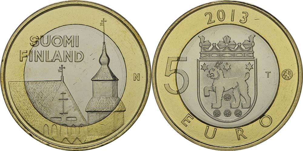 Lieferumfang:Finnland : 5 Euro Tavastia  2013 Stgl.