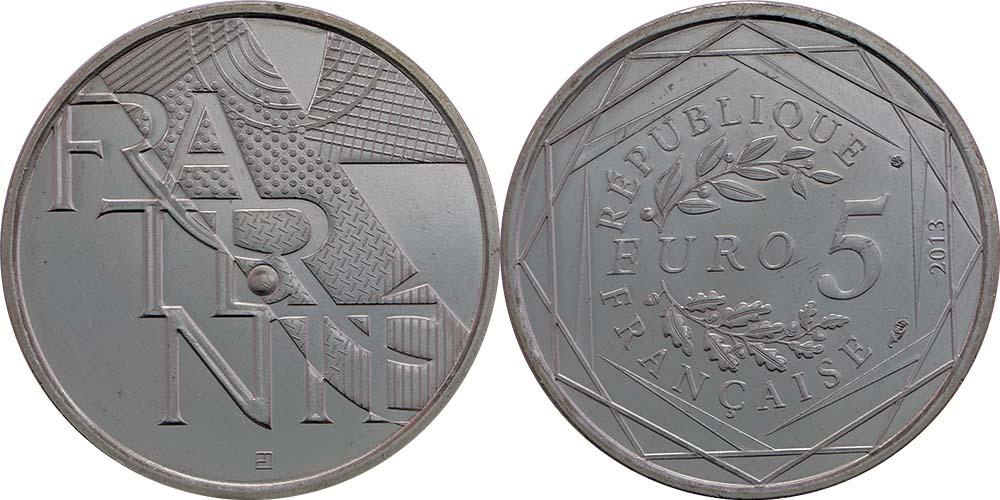 Lieferumfang:Frankreich : 5 Euro Brüderlichkeit  2013 Stgl.