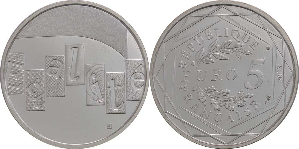 Lieferumfang:Frankreich : 5 Euro Gleichheit  2013 Stgl.