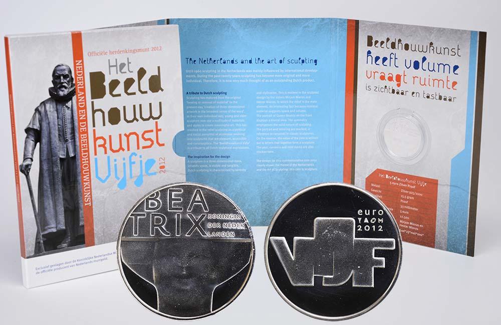 Lieferumfang:Niederlande : 5 Euro Bildhauerkunst  2012 PP