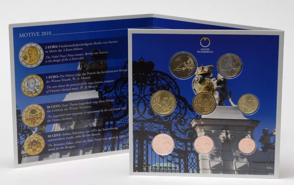 Lieferumfang:Österreich : 3,88 Euro Originalsatz der Österreichischen Münze  2010 Stgl. KMS Österreich 2010 Stgl.