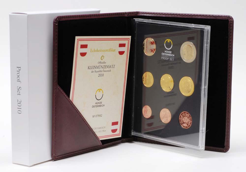Österreich : 3,88 Euro Originalsatz der Österreichischen Münze  2010 PP KMS Österreich 2010 PP