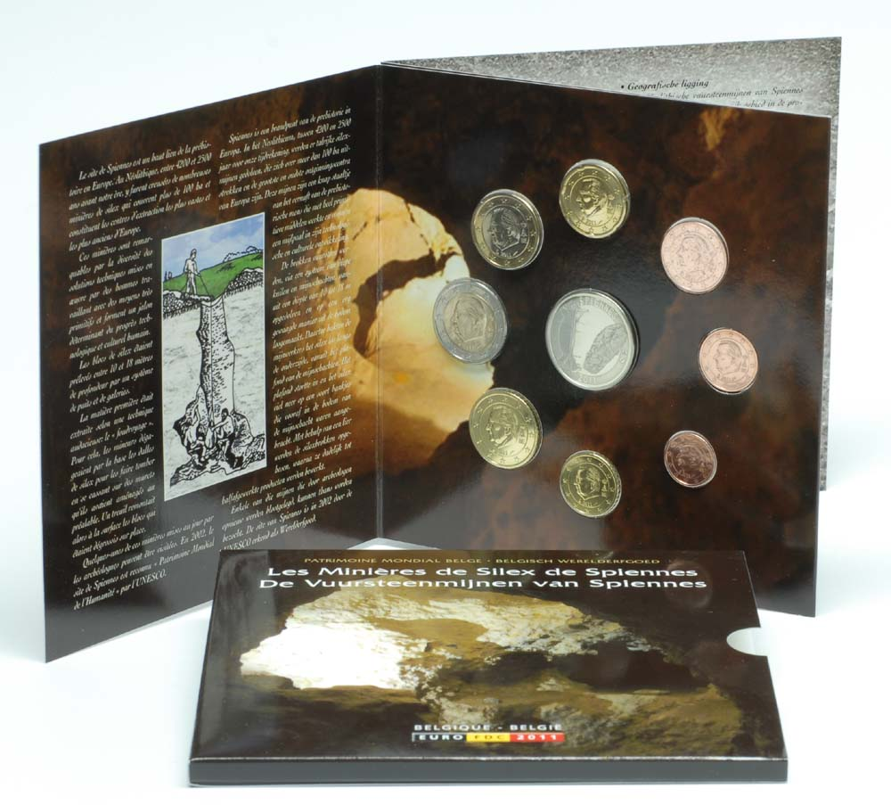 Lieferumfang:Belgien : 3,88 Euro original Kursmünzensatz der belgischen Münze  2011 Stgl. KMS Belgien 2011 Stgl.