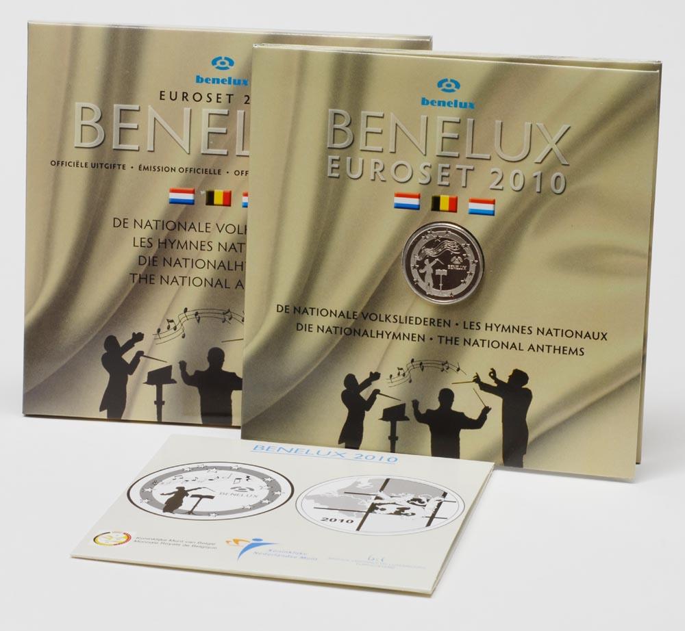Lieferumfang:Belgien : 11,64 Euro original KMS Benelux, enthält alle Euro-Kursmünzen der Länder Belgien, Niederlande, Luxemburg + Medaille und CD  2010 Stgl. KMS Benelux 2010