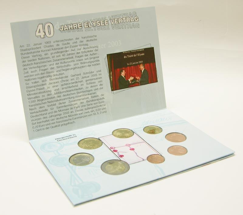 Lieferumfang:Deutschland : 3,88 Euro Deutsch - Französische Freundschaft im Originalblister  2004 Stgl.