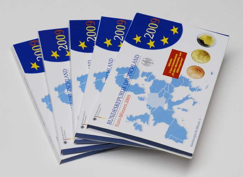 """Lieferumfang:Deutschland : 29,4 Euro KMS Deutschland mit zusätzlicher 5 x 2 Euro Gedenkmünze """"10 Jahre WWU""""  2009 PP"""