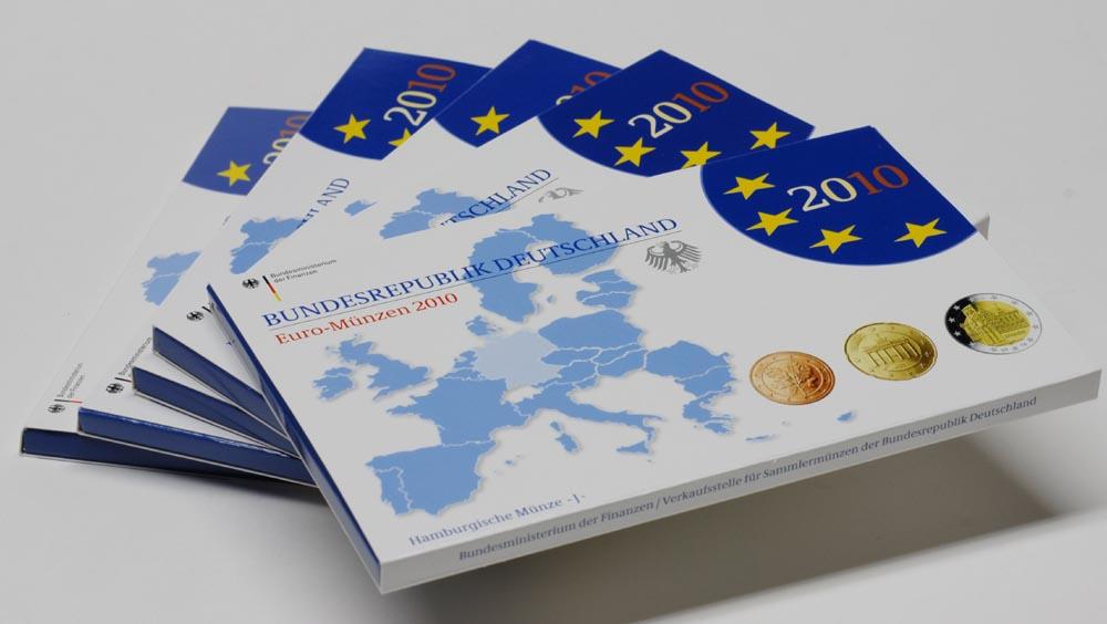 """Lieferumfang:Deutschland : 29,4 Euro KMS Deutschland  mit zusätzlicher 5 x 2 Euro Gedenkmünze """"Bremen""""  2010 PP KMS Deutschland 2010 PP"""