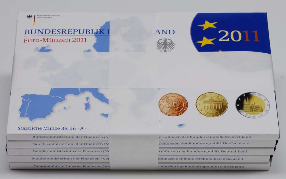 """Lieferumfang:Deutschland : 29,4 Euro kompletter Satz in Originalverpackung """"Bad Homburg"""" - jetzt mit zusätzlicher 5 x 2 Euro Gedenkmünze """"Kölner Dom""""  2011 PP"""