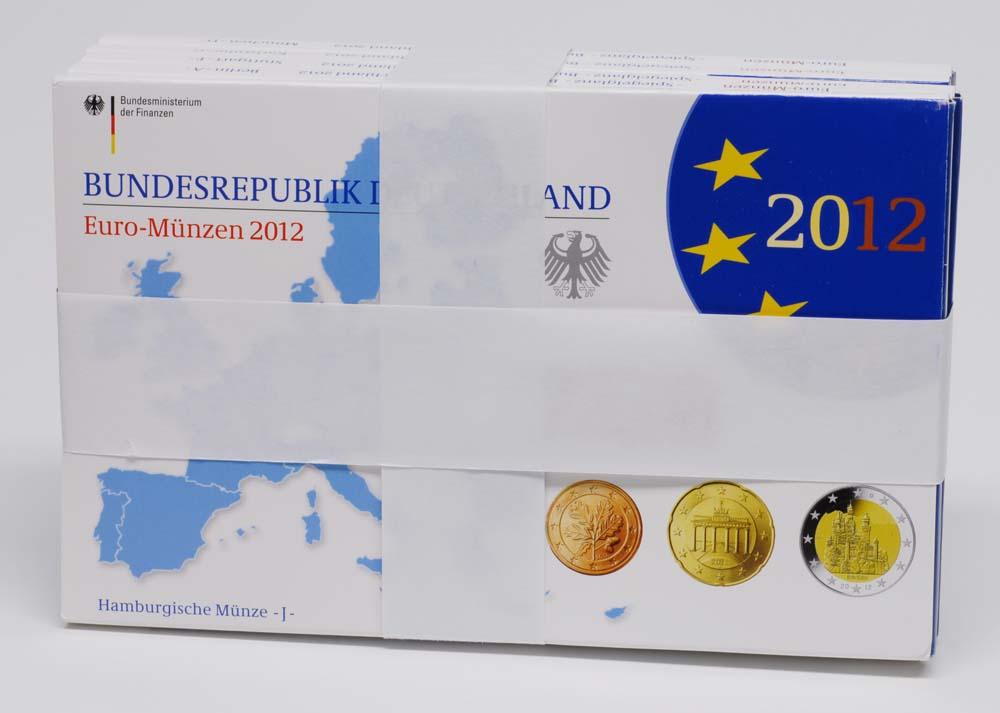 Lieferumfang:Deutschland : 29,4 Euro kompletter Satz mit zusätzlicher 5 x 2 Euro Gedenkmünze Neuschwanstein und 10 Jahre Euro Bargeld  2012 PP KMS Deutschland 2012 PP