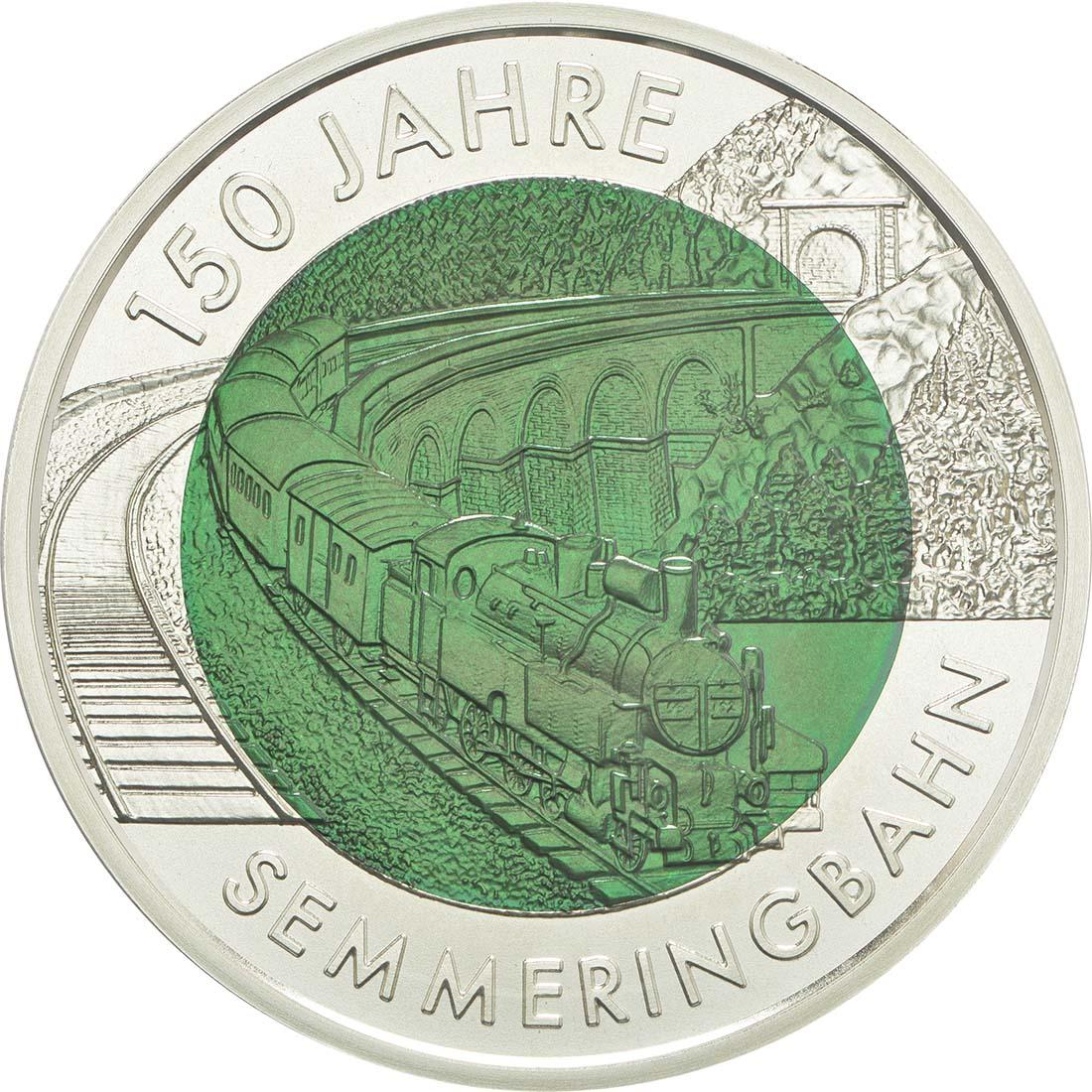 Vorderseite:Österreich : 25 Euro Semmeringbahn  2004 Stgl.