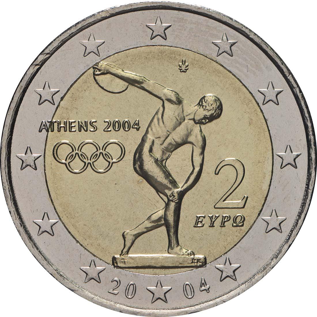 2 Euro Gedenkmünzen Griechenland 2004