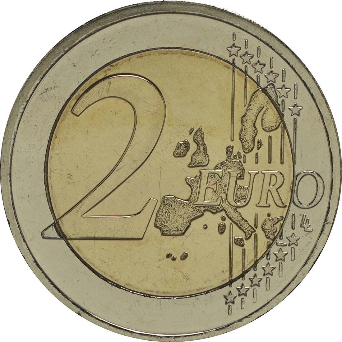 Vorderseite :Italien : 2 Euro Europäische Verfassung  2005 bfr