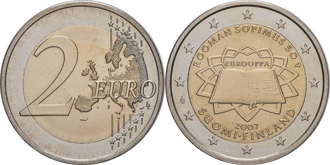 Lieferumfang:Finnland : 2 Euro Römische Verträge  2007 bfr