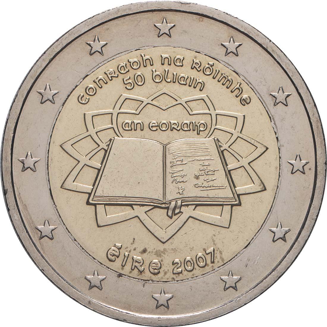 Rückseite:Irland : 2 Euro Römische Verträge  2007 bfr