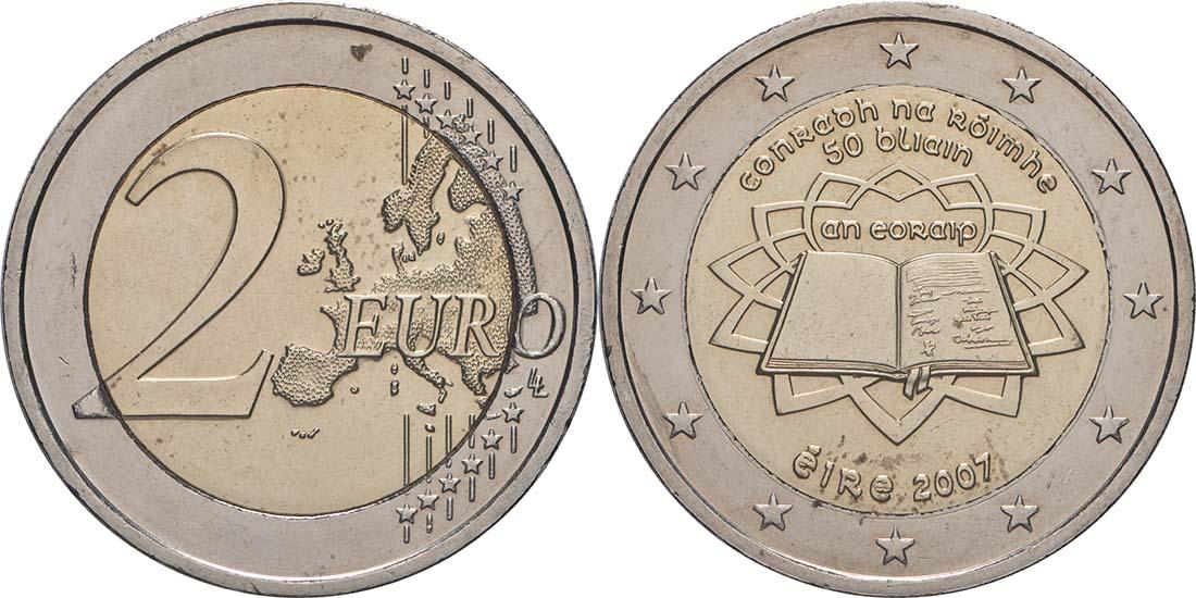 Lieferumfang:Irland : 2 Euro Römische Verträge  2007 bfr