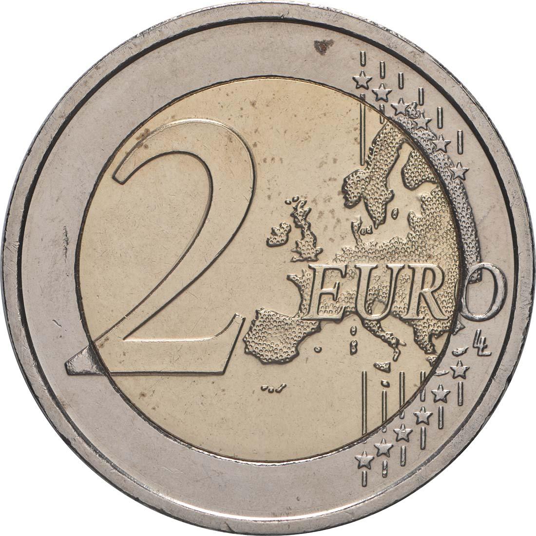 Vorderseite:Irland : 2 Euro Römische Verträge  2007 bfr