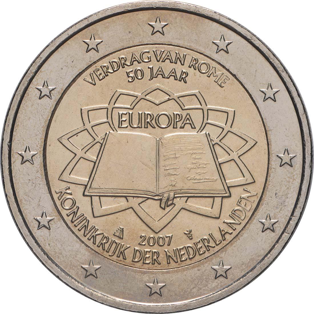 Rückseite:Niederlande : 2 Euro Römische Verträge  2007 bfr