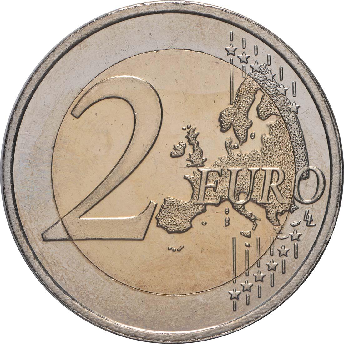 Vorderseite:Niederlande : 2 Euro Römische Verträge  2007 bfr