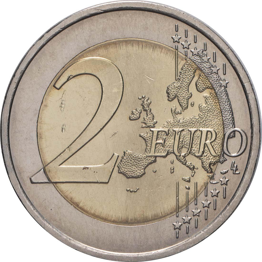 Vorderseite:Portugal : 2 Euro Römische Verträge  2007 bfr