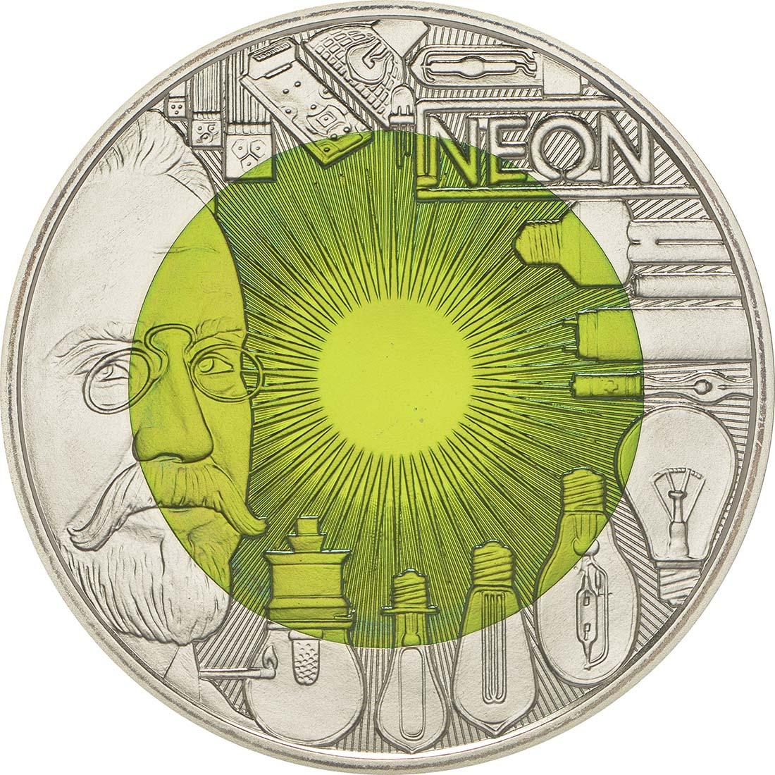 Vorderseite :�sterreich : 25 Euro Faszination Licht  2008 Stgl. �sterreich 25 Euro Niob 2008