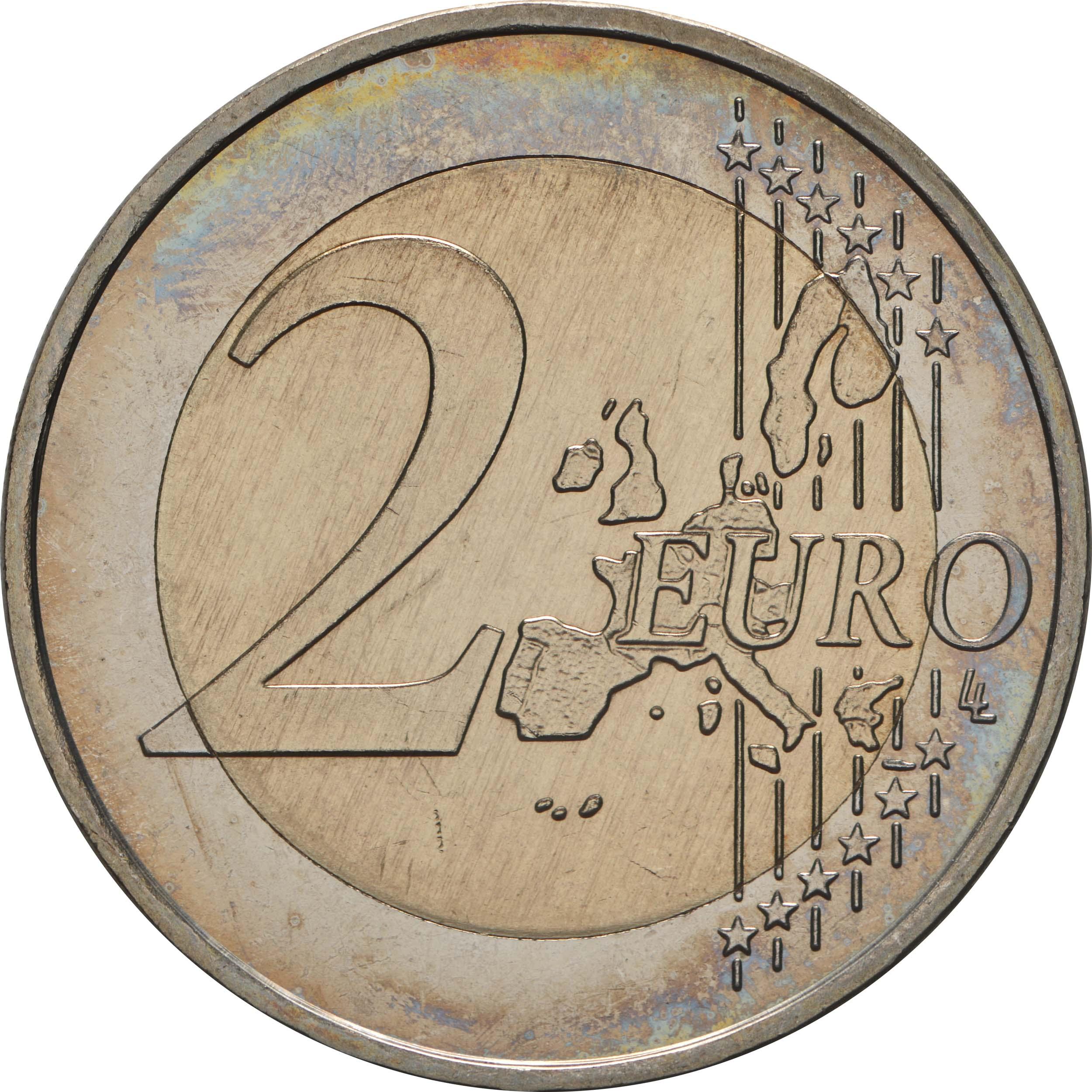 Vorderseite:Deutschland : 2 Euro Hamburger Michel - Variante mit alter Wertseite  2008 Stgl.
