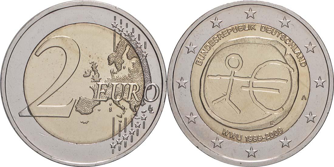 Lieferumfang:Deutschland : 2 Euro 10 Jahre Euro  2009 Stgl.