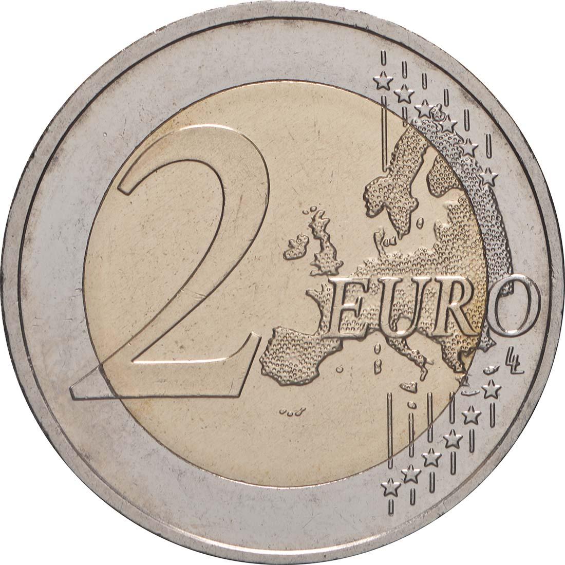 Vorderseite:Deutschland : 2 Euro 10 Jahre Euro  2009 Stgl.