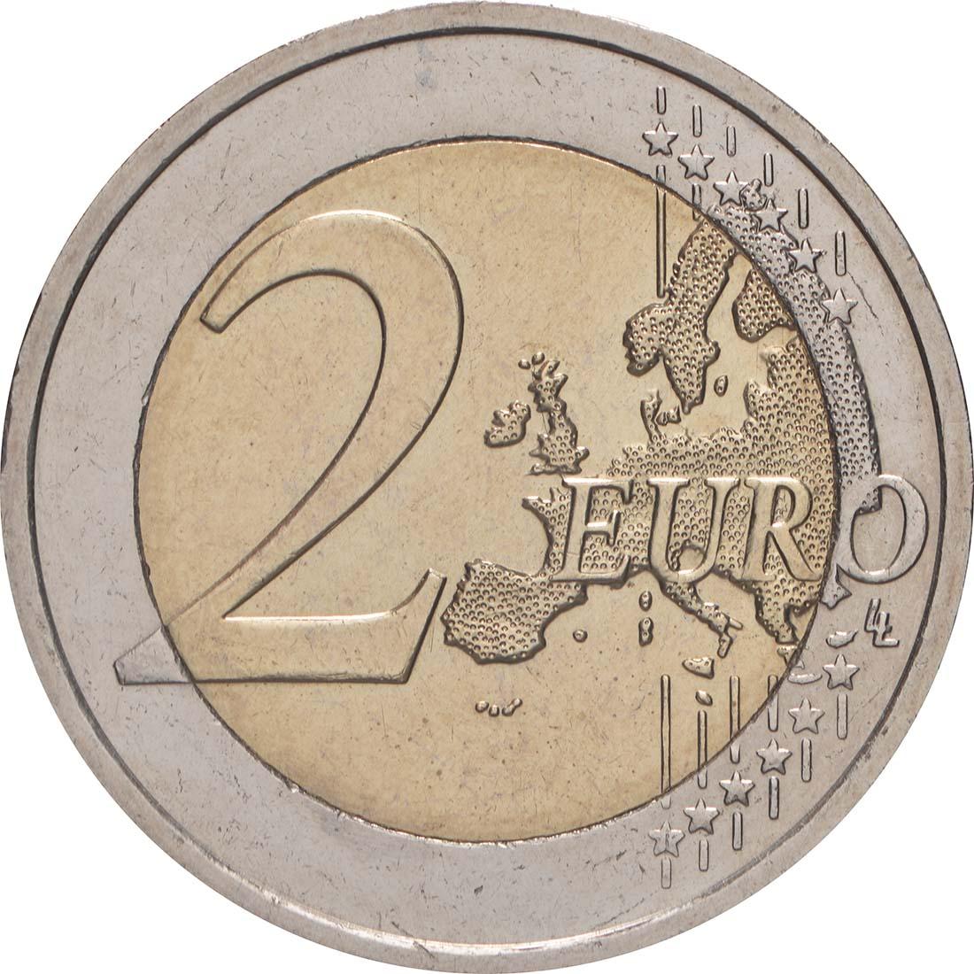 Vorderseite:Slowakei : 2 Euro 10 Jahre Euro  2009 bfr