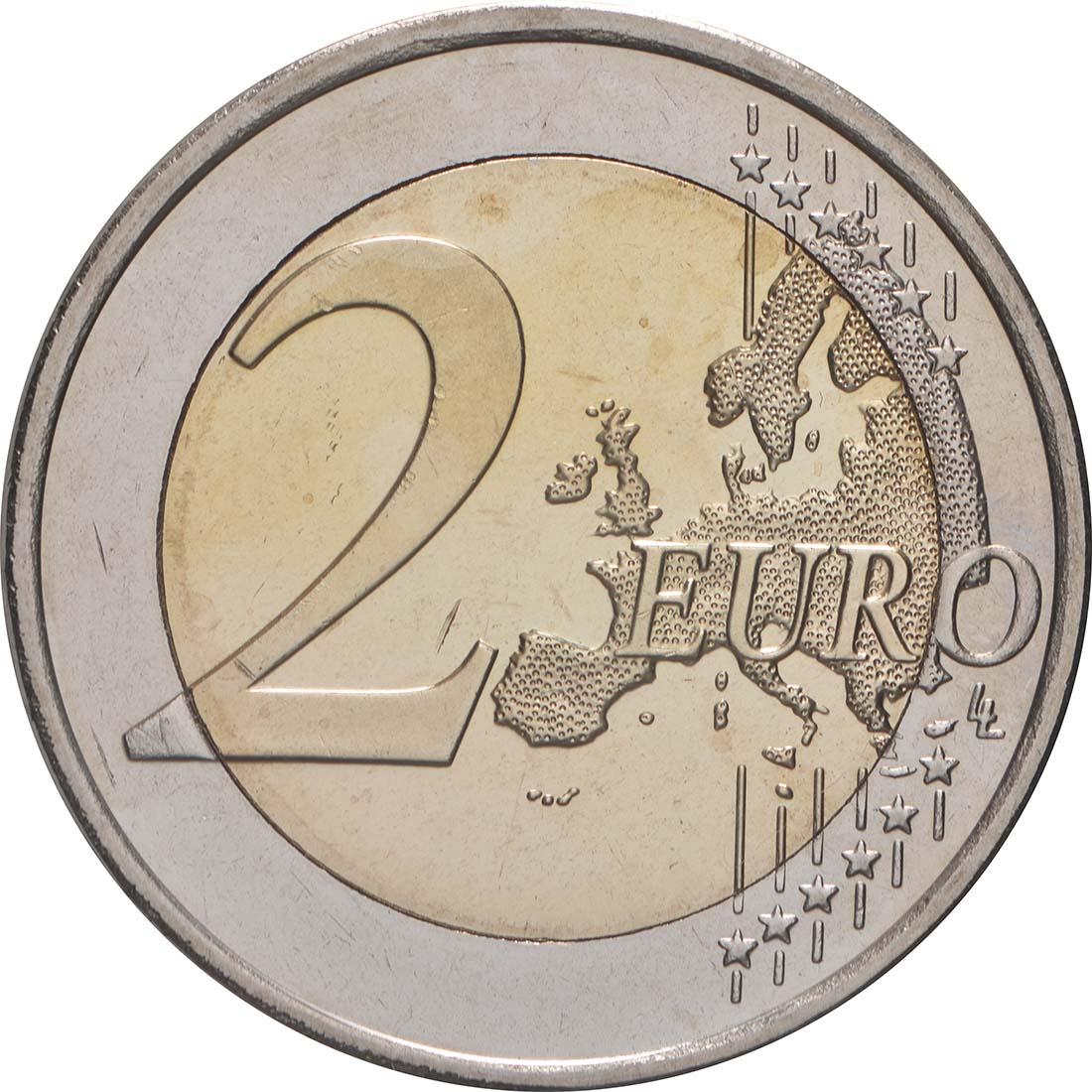 Vorderseite:Slowenien : 2 Euro 10 Jahre Euro  2009 bfr