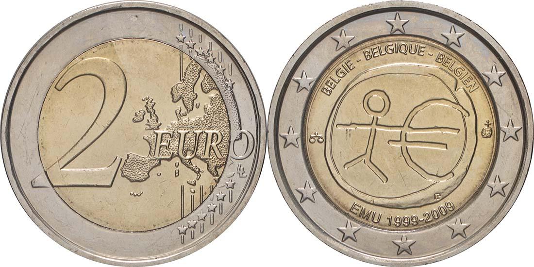 Lieferumfang:Belgien : 2 Euro 10 Jahre Euro  2009 bfr