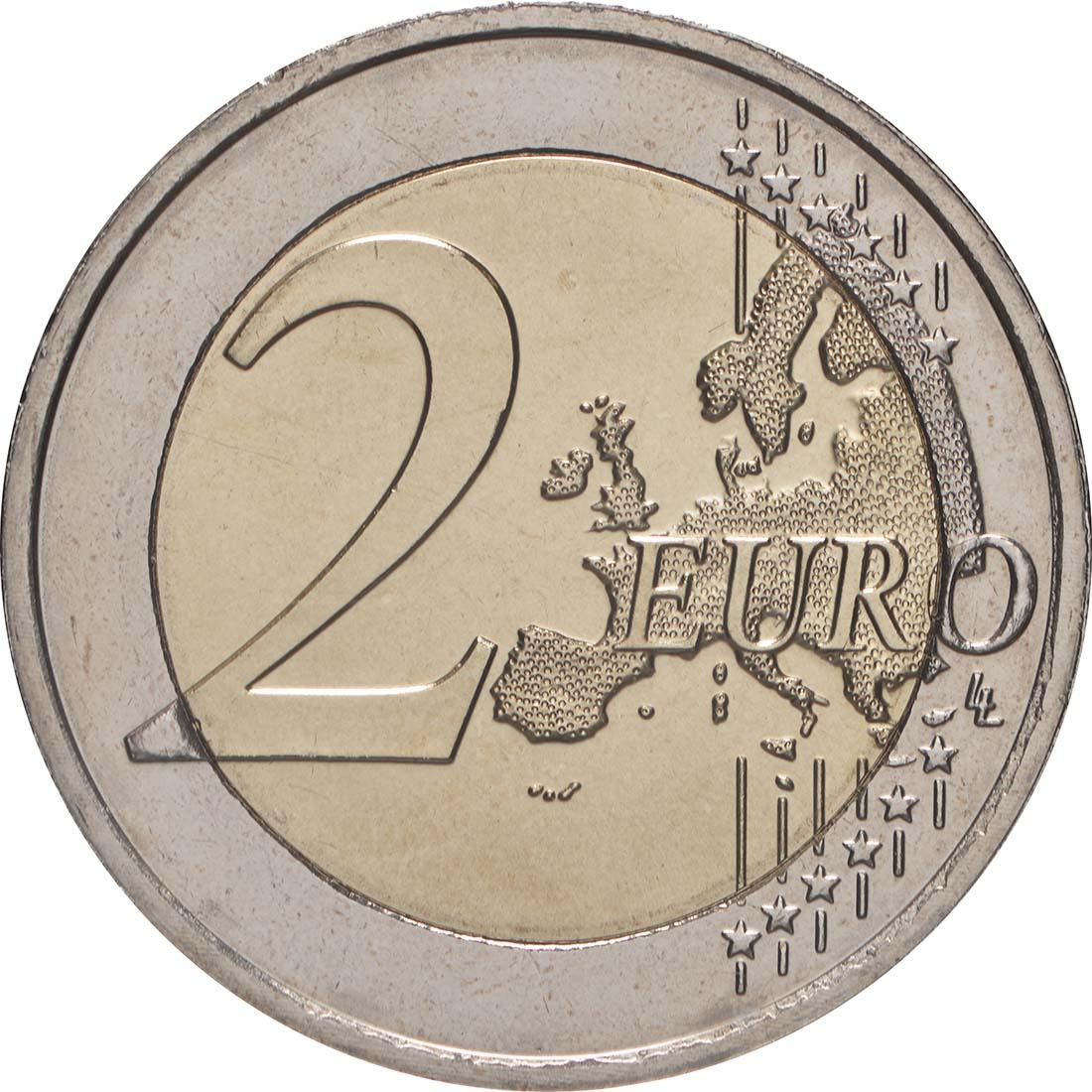 Vorderseite:Luxemburg : 2 Euro 10 Jahre Euro  2009 bfr