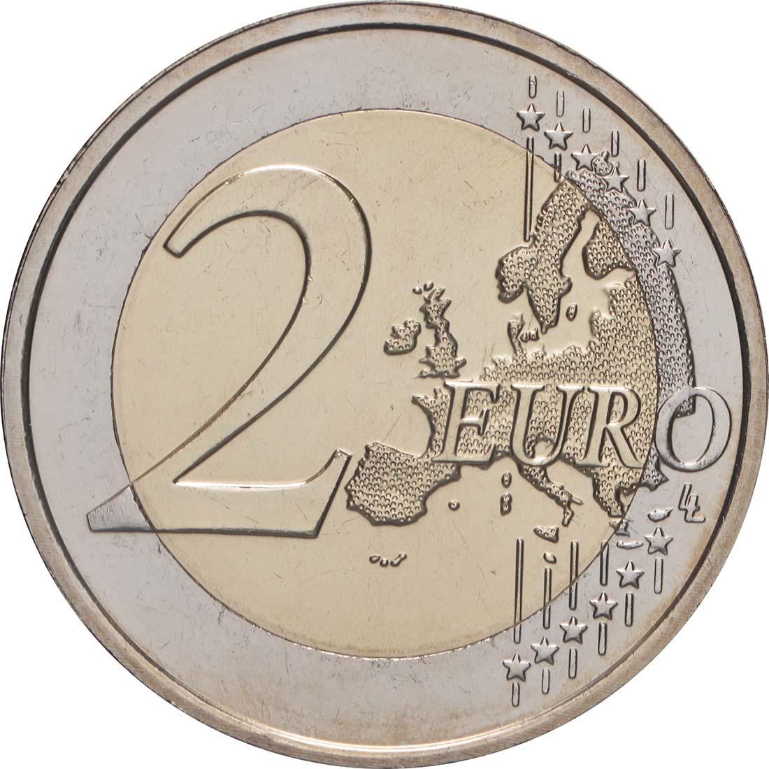 Vorderseite:Malta : 2 Euro 10 Jahre Euro  2009 bfr